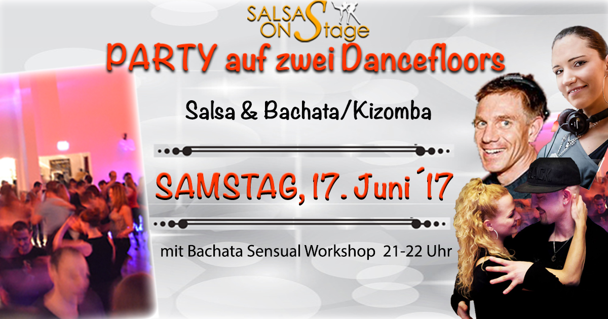 salsa onstage party auf 2 dancefloors bachata sensual workshop m nchen salsa. Black Bedroom Furniture Sets. Home Design Ideas